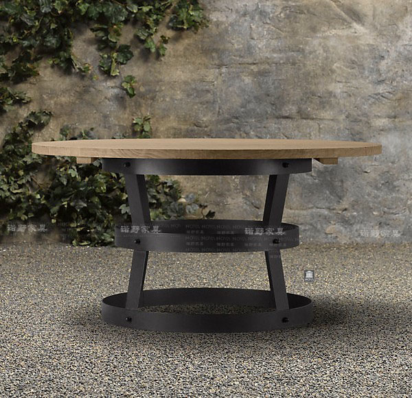 Loft américaine faire le vieux rétro grande table ronde table à ...