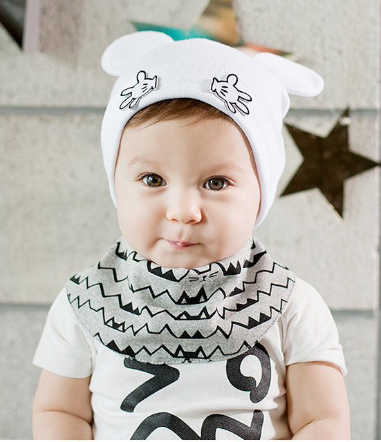 2016 New Mickey Mouse Cartoon Baby Hat 0~12 Months Boys or Girls Cute Kids  hat fashion free shipping 8530d007d2c5