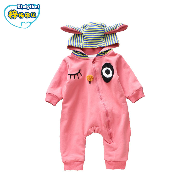 ZIZIYIBEI New Fashion Hooded Baby Rompers Newborn Cotton Clothing Baby Boy Jumpsuits Baby Girls Clothes Autumn Outerwear L586 cotton baby rompers set newborn clothes baby clothing boys girls cartoon jumpsuits long sleeve overalls coveralls autumn winter