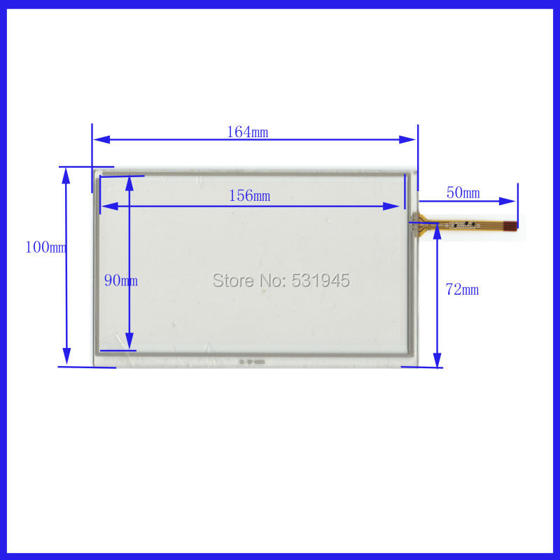 NEW Resistive tinch touch screens 8inch 4 lines touch screen 192* 116.5mm screen free shipping 192mm*116.5mm GLASS XWT170