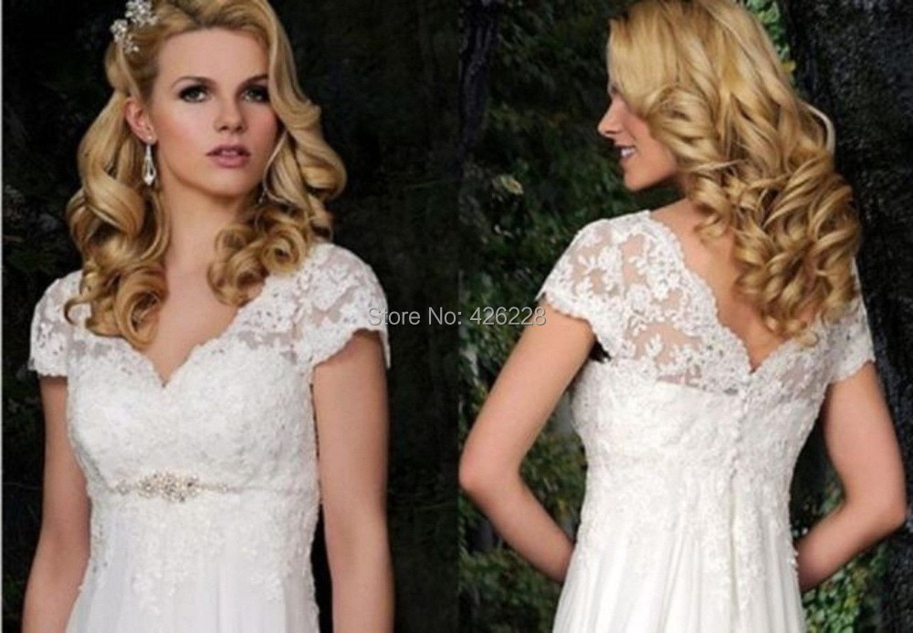 2014 NEW White Ivory Maternity Plus Size Wedding Dress