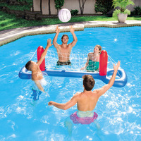Pool Floats Football Volleyball Pool Toys Water Sports Games Inflatable Floating + Gift ball Island Boia Piscina For Adults Kids