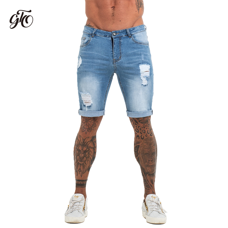 Mens Shorts Fitness Denim Shorts Black High Waist Ripped Summer Summer   Jeans   Shorts For Men Plus Size Casual Streetwear dk03