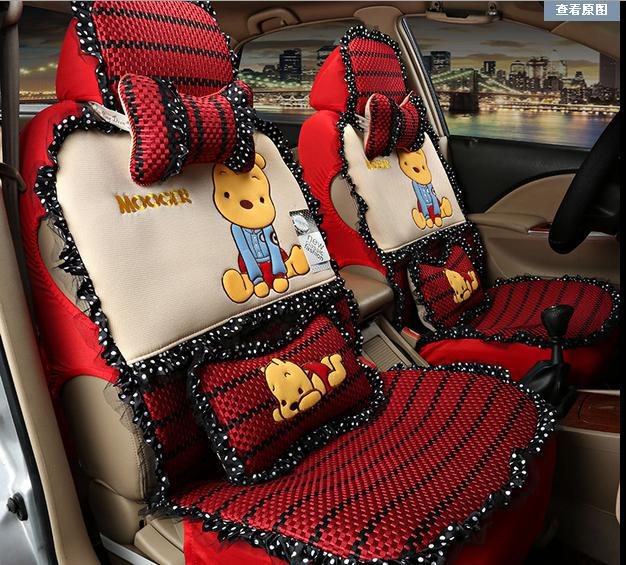 Full Set Winnie The Pooh Car Seats Covers Front Back Rear Cover All In One Cartoon Chairs For Automobiles Seat From
