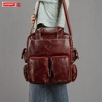 Женский портфель ручной работы через плечо сумка мессенджер первый слой из натуральной воловьей кожи женская сумка в стиле ретро большой е