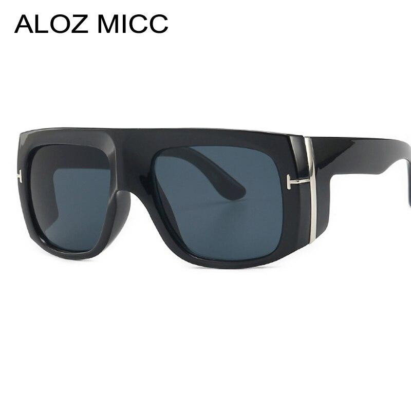 ALOZ MICC Steampunk Sunglasses Men Women Brand Designer Vintage Oversize Unisex Sun Glasses Women square Rivet Oculos Q675