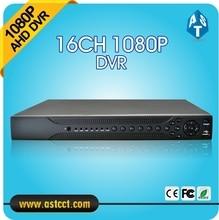 H.264 Hybrid 16CH NVR Home 1080P AHD DVR Recorder 16 Channel 2 SATA AHD DVR ONVIF 16CH