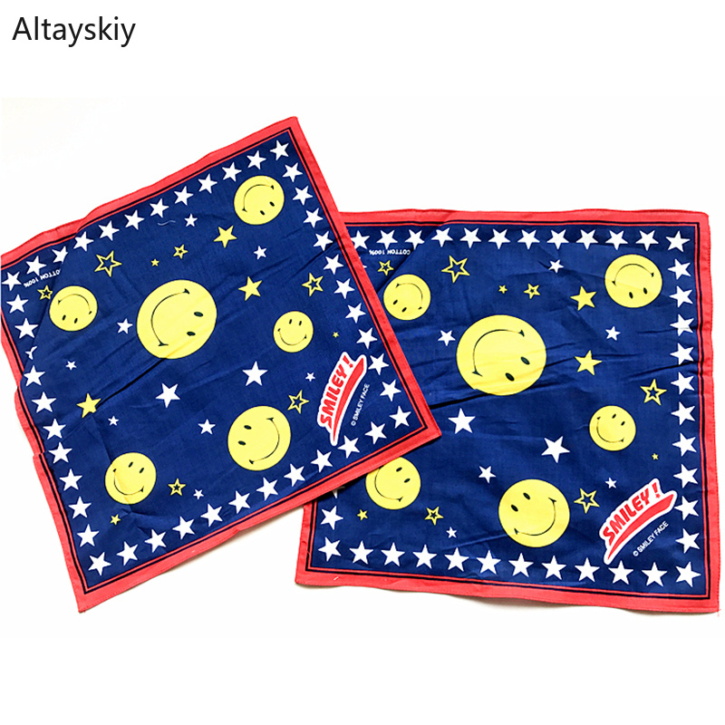 Handkerchiefs Women Smile Cartoon Simple Pocket Square Ladies Handkerchief Korean Style Elegant Womens Trendy Leisure Daily Chic