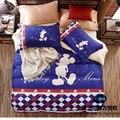 Disney Blau und Rot Plaid Duvet Tröster Abdeckung Kissenbezüge für Erwachsene Kinder Kinder Schlafzimmer Decor Twin Einzel Königin Bettwäsche|Bettwäsche-Sets|   -
