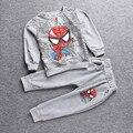 Мальчик Комплект Одежды Детей Человек-Паук Одежда для Детей С Длинными Рукавами Толстовка Брюки Мальчиков Костюм Малышей мальчики одежда наборы