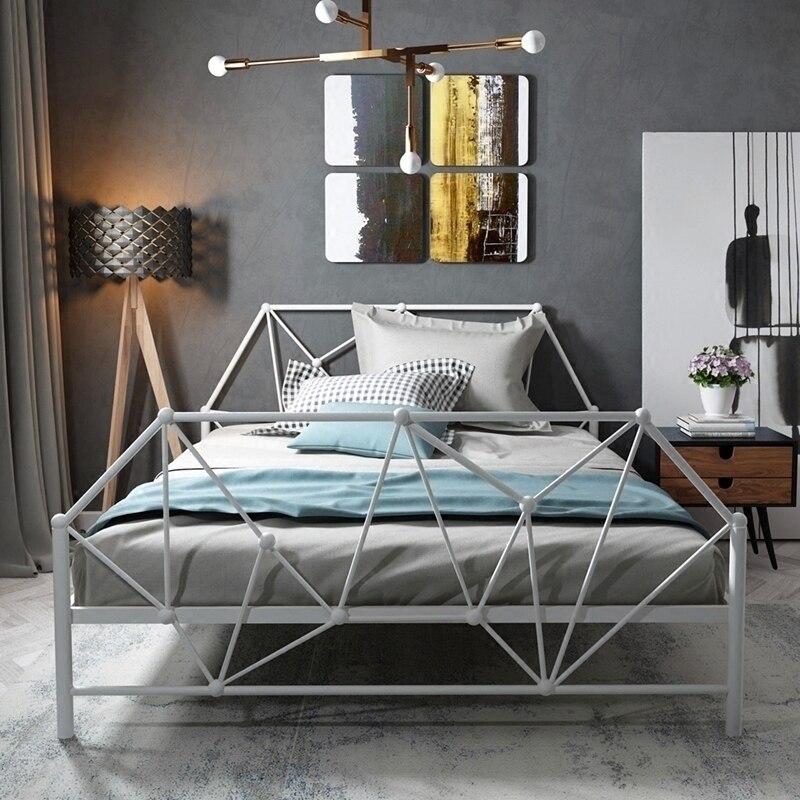 Type européen contemporain contracté fer art lit adulte enfants fer lit 1.2 m 1.5 m simple double fer cadre lit princesse lit