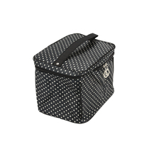 Women Fashion Small Dots Cosmetic Storage Handbag Waterproof Toiletry Organizer With Mirro 4 Colors