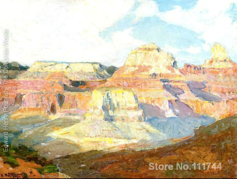 People paintings Grand Canyon Edward Henry Potthast oil on canvas Handmade High quality