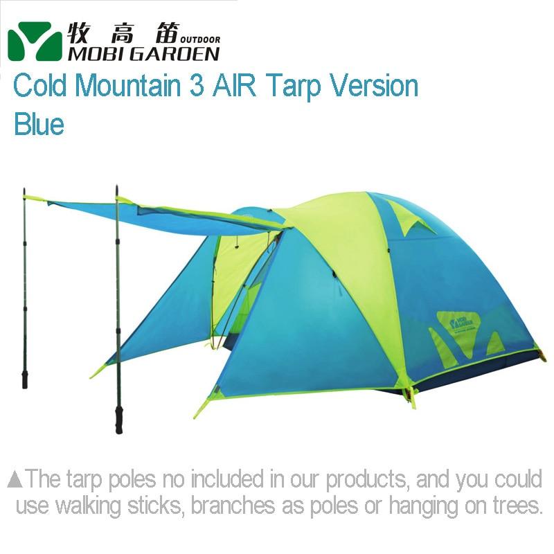 цена Mobi Garden Cold Mountain 3 AIR TARP Version Large-space Double Layer Aluminum Pole 3-4 people 3-season Camping Tent в интернет-магазинах