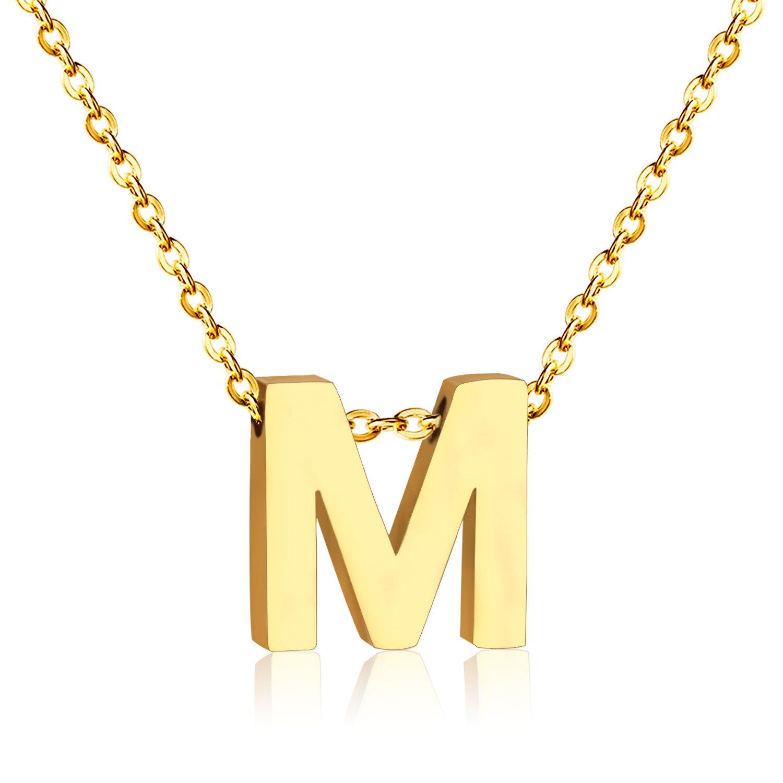 Nouveau Alphabet M Lettre Colliers Pendentif, Fit Pour Hommes/Femmes Nom Bijoux(China