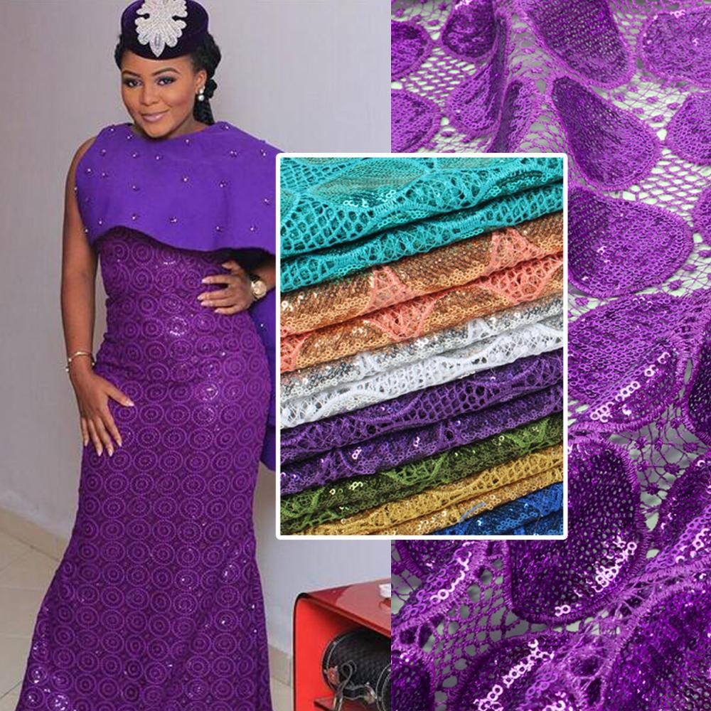 Bestway 2019 Guipure químicos brillos lentejuelas encaje tul seco encaje tela para mujer vestido de boda tela cordones tejidos-in encaje from Hogar y Mascotas    1