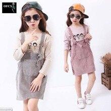 Enfants Tricoté Coton Jupes Printemps 2016 Nouveau Bébé Confortable Pur Couleur Jarretelles Jupes Enfants Vêtements Filles de Mode Tenue