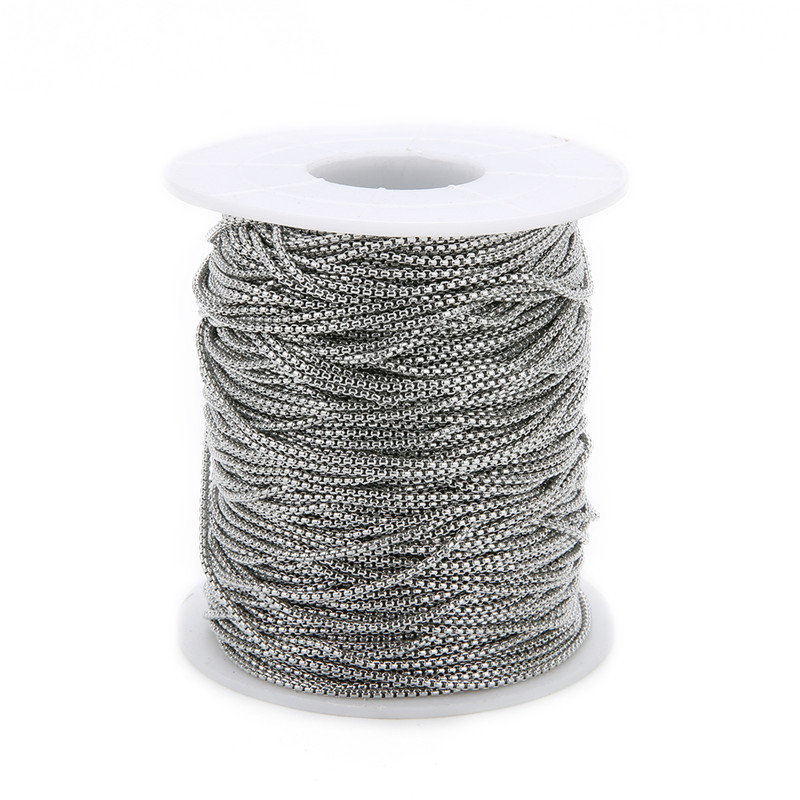 5m/lot 2mm 2.5mm Stainless Steel Link Chains Necklace Craft Supplies Silver Tone Metal Rolo Chains Bulk For Diy Jewelry Making