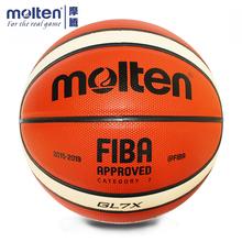 купить Original Molten GL7X Basketball Official Size 7 Men's Basketball Ball For Indoor Outdoor Training Free With Ball Needle+Mesh Net дешево