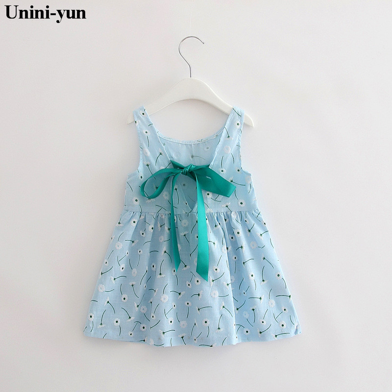 5b3fc86f4ba5b Retail-2017 summer newborn V-neck bow COTTON princess infant dress baby  girls dress Honey Baby clothes 18m24m3t4t5t6t7