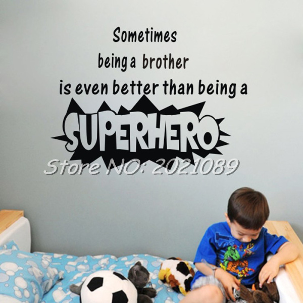 Online Get Cheap Brothers Wall Quotes Aliexpresscom Alibaba Group - Superhero vinyl wall decals