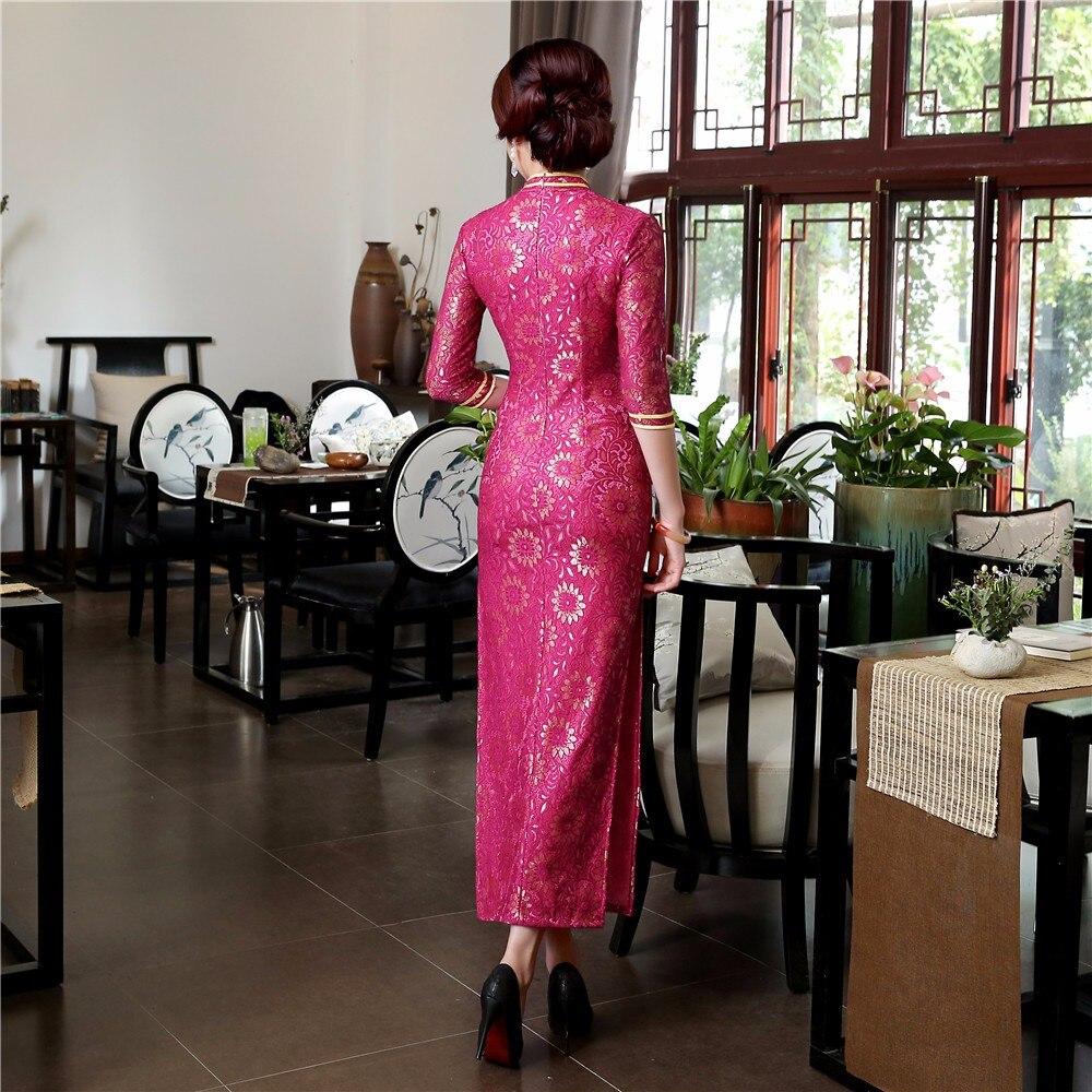 Cheongsam L Chinois Xxl S Printemps Nouveau Xl M Sexy Dentelle Automne Robe Traditionnelle Xxxl Wear Longue Gaine Vintage Club Dame Qipao XTAFqwHA