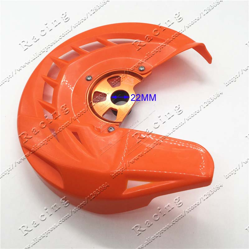 X-Brake Front Brake Disc Cover Rotor Guard Protector Protection SX SXF XC XCF EXC EXCF 125 200 250 300 350 450 530 orange cnc billet front brake disc guard for ktm 125 530cc exc sx xc w 2004 2014 xc w xcf w exc 2015