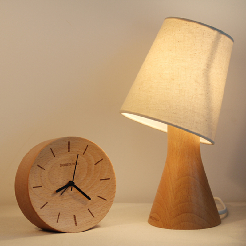 Beladesign modern wooden lamp dimmerable table lamp small wooden ...