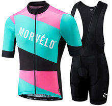 Morvelo 2019 cycling jerseys summer set bike shorts Ropa Ciclismo quick-dry pro team jersey Maillot 9d gel Short Sleeve