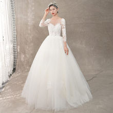 9b9534280caef High Quality Long Sleeve Modest Wedding Dress Promotion-Shop for ...