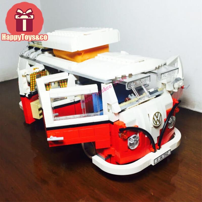 Galleria fotografica <font><b>Legoing</b></font> <font><b>Technic</b></font> Series 10220 1354Pcs Camper Van car-styling toys For Children Gift 21001 Building Blocks Set Compatible