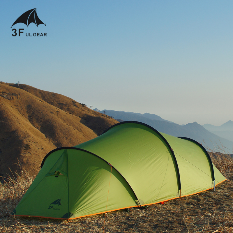 3F UL Gear TAIHANG Tunnel 210T/15D Seam Sealed 1 Bedroom 1 Sitting Room 2-person 3-Seasons Camping Tent with Free Mat платье seam seam mp002xw18ui0