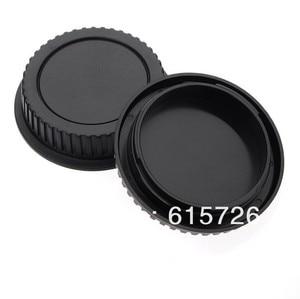 Image 2 - סיטונאי 10 זוגות מצלמה גוף כובע + אחורי מכסה עדשה עבור canon 1000D 500D 550D 600D EF EF S Rebel T1i eos מצלמה