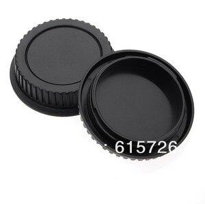Image 2 - Оптовая продажа 10 пар Крышка корпуса камеры + Задняя крышка объектива для камеры canon 1000D 500D 550D 600D EF EF S Rebel T1i eos