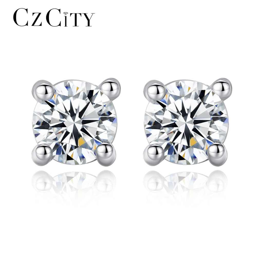 4c017af91 Detail Feedback Questions about CZCITY 925 Sterling Silver Zircon Earrings  for Women Classic Romance Daily Wear Office Lady Delicate Stud Earring  Female ...