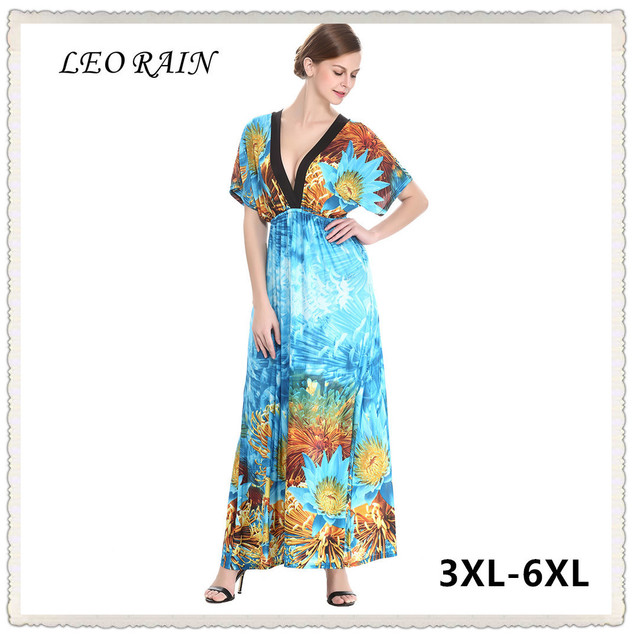 Women Summer Maxi Long Print Vacation Beach Wear Bohemian Sommer ...