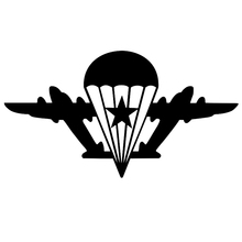 CS-220#11*20cm Airborne with a star without paratrooper funny car sticker and decal silver/black vinyl auto stickers