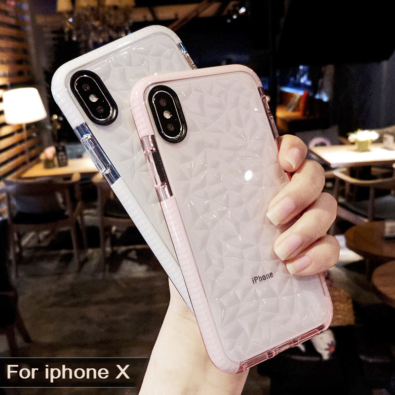 Luxury Jelly Phone Cases For iPhone 8 7 6s 6 8 Plus X Soft TPU Transparent Case Shookproof Clear Cover For Samsung S9 plus S8 S9 iPhone