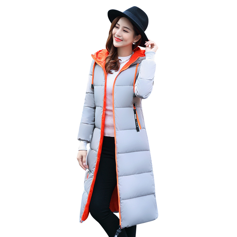 2017 New Winter Women Ladies Thick Long Jacket Autumn Women Parkas Hooded Female Snow Wear  Outwear Coat Down Cotton Padded winter jacket women new fashion hooded long outwear down cotton parkas ladies thick warm korean loose coat high quality parkas