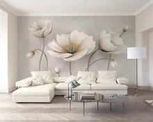 beibehang Custom size Nordic elegant flower marble 3d wallpaper texture 3D stereo TV bedroom background wall papers home decor