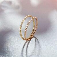 Лидер продаж сплошной AU750 золото настройки канала кольцо обручальное кольцо