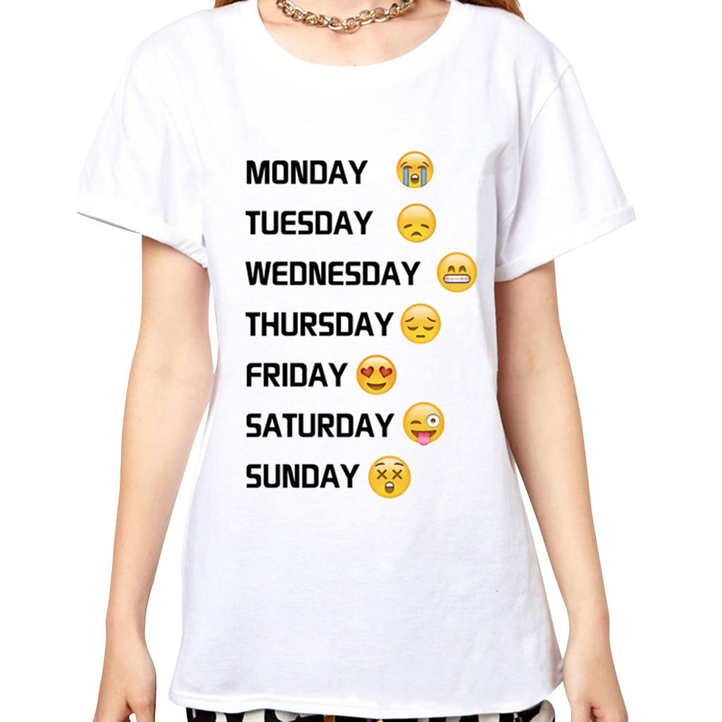 Us 5 38 30 Off Women Print 3d Emoji T Shirts Smiley Emotion Cartoon T Shirt Summer Tees In T Shirts From Women S Clothing On Aliexpress Com