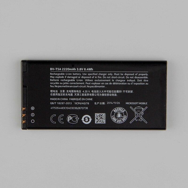 New Original Nokia BV-T5A téléphone batterie pour Nokia Lumia 550 730 735 738 Superman RM1038 RM1040 BVT5A 2220 mAh
