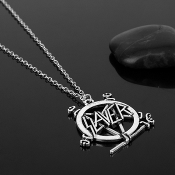 Slayer Pentagram Band Logo Pendant Necklace For Music Fans 1