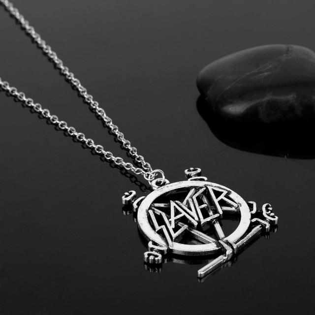 Slayer Pentagram Band Logo Pendant Necklace For Music Fans 1
