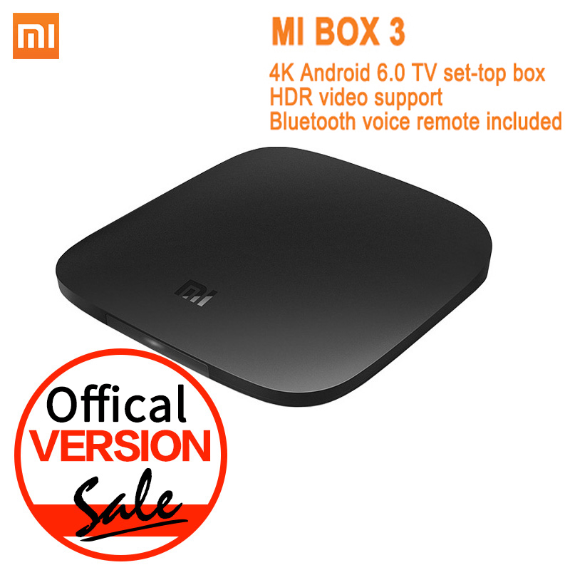 Offical Version Xiaomi Mi font b TV b font Box 3 Android 6 0 4K 8GB