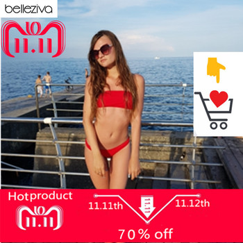 Belleziva 2018 Woman Bikinis Sexy Bandage Swimsuits Swimwear Halter Brazilian Bikini Beach Bathing Suits Biquini Maillot De Bain