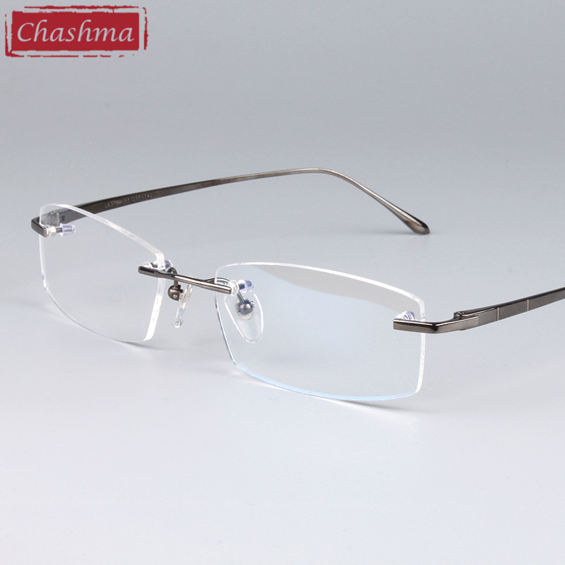 Chashma Eyeglasses Optical Frames Quality Frames Rimless Titanium Spectacle Frame for Men and Women