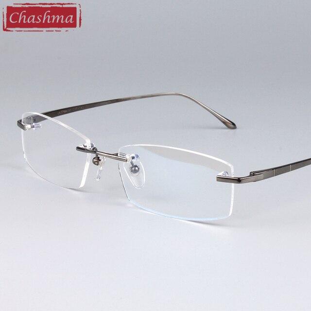 969baed6 € 21.29 21% de DESCUENTO|Marcos ópticos de gafas Chashma marcos de calidad  montura de titanio sin montura para hombres y mujeres en De los hombres ...