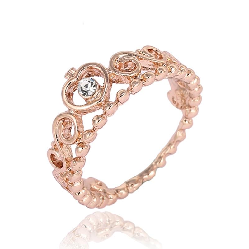 Модные плетеные кольца с кристаллами для женщин, золото/серебро/розовое золото, тонкое женское кольцо, вечерние ювелирные изделия для помолвки - Цвет основного камня: RG011